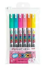 Uni POSCA DO JAPAN Drawing Pen Pens 6 Shiny colors PC1MDS6C