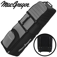 MACGREGOR VIP II X-LARGE PADDED WHEELED GOLF FLIGHT TRAVEL COVER - GREY / BLACK