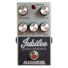 Alexander Jubilee Silver Overdrive Guitar Effects Pedal Stompbox Footswitch