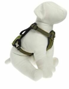 KONG Comfort + Reflective Waste Bag Harness Dogs Small Green Girth 16.5-22.25 in