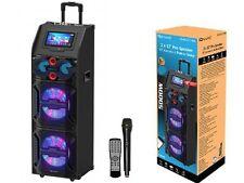 """Supersonic IQ-4922DJWK 2 x 12"""" PA Speaker +9"""" Tablet(Wi-Fi) +Karaoke +USB/EQ/Mic"""