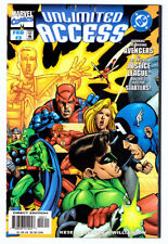 UNLIMITED ACCESS #3 in NM- a 1998 Marvel & DC comic w/ Avengers & JLA