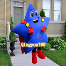 Star Superman Adult Mascot Costume Party size/color Fancy dress Cosplay Blue