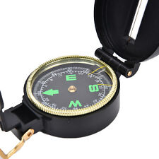 Metal Lensatic Compass Military Camping Hiking Army Style Survival Marching CQ