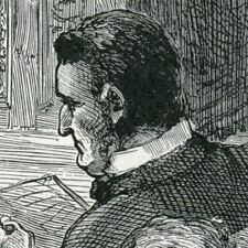 ENGLAND~PARLIAMENT~GLADSTONE~IRELAND~1894 antique print