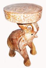 ELEPHANT SHAPE Hardwood Coffee Table/ Side Table 49 cm x 27 cm WHITE/LIGHT COLOR