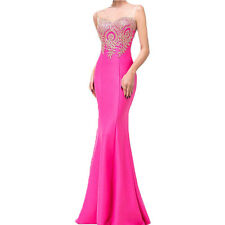 Fashion Women Formal Evening Prom Ball Gowns Party Bridesmaid Wedding Maxi Dress