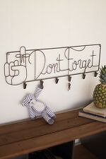 DON'T FORGET WALL RACK mail notes organization office key hat Bath towel Jewelry