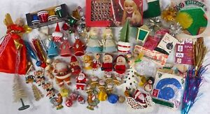 Large Lot 60+ Assorted Vintage/Used Christmas Decorations 1960s+