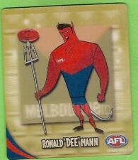 2010 AFL GOLD TAZO  No  45 MELBOURNE DEMONS MASCOT