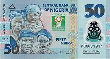 NIGERIA,  50 NAIRA, COMMEMORATIVE, 2010,  P 40b,  UNC, POLYMER, BANKNOTE, AFRICA