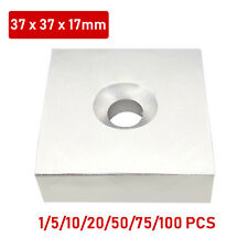 Rectangle Ring Strong Magnets Rare Earth Neodymium Magnet With Hole 37x37x17mm