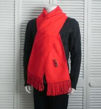 NEW Peru Exquisite Fringed Solid Red Alpaca Long Scarf