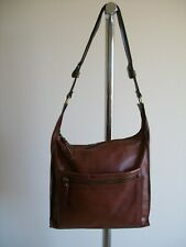LOVELY BROWN LARGE SOFT LEATHER TOTE HANDBAG BY COLORADO, VG COND. LIGHTWEIGHT
