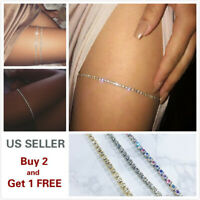Crystal Fashion Thigh Leg Chain Body Bikini Beach Harness Summer Sexy Jewelry