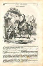 Billet de logement pour un hussard par Hippolyte Bellangé peintre GRAVURE 1843