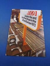 BEA AIRLINES GUIDE TO TAX DUTY FREE SHOPS UK EUROPE 1972 ADVERTISING BROCHURE