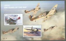 Jersey 100 years RAF Anniv-Aviation min sheet mnh-2018