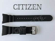 Genuine CITIZEN Promaster Series JV0000-01E, JV0007-02E Black Rubber Watch Band