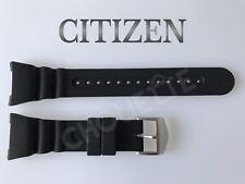 Genuine CITIZEN Promaster Series JV0000-01E, JV0007-02E Black Rubber Watch Band