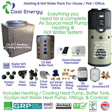 Cool Energy - Complete Air Source Heat Pump Heating & Hot Water System - Pack 4.