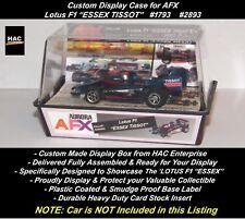 "Custom Display Case : AFX Faller  Lotus F1 ""ESSEX TISSOT"" #1793  #2893"