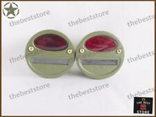 PAIR OF MILITARY JEEP WILLYS CAT EYE REAR TAIL & STOP LIGHT (2 POINT LIGHT) 12v