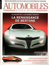 REVUE MAGAZINE AUTOMOBILES CLASSIQUES N°202 01/2011 BERTONE BENTLEY LANCIA SAAB