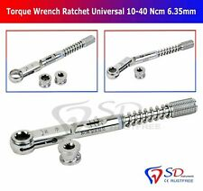 Universal Dental Implant Torque Wrench Ratchet 10-40 Ncm 6.35mm Hex 4.0mm