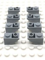 Lego Part 8 X 4211437 1x2 Roof Tile Inverted 3665 Light Grey