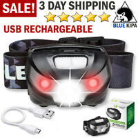 RECHARGEABLE Headlamp Flashlight Camping Headlight Waterproof Head Lamp Strap On