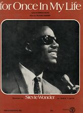 Stevie Wonder   For once In My Life  Sheet  Music
