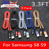 5 × Nylon Braided Type-C Cable USB-C Fast Charging Cord For Samsung S8 S9 Note 8
