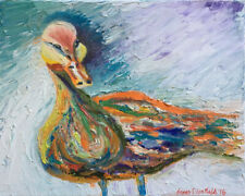 """Duck 8""""x10"""" Limited Edition Oil Painting Print Signed Art by Artist"""