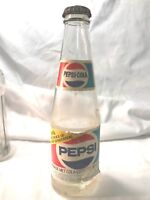 VINTAGE 1980's PEPSI SODA POP BOTTLE w/ PAPER LABEL FROM HOLLAND