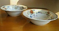 "Theo Haviland JEWEL CREAM Floral Rim Cereal Bowl 6""  Limoges LOT 2 Mult Avail"