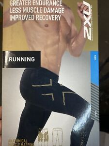2XU Men's MCS Run Compression Tights Black/Gold Medium