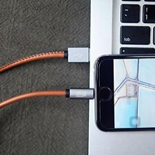New PU LeatherUSB Charging Data Cable for Apple iphone 5/6/7/8-Brown