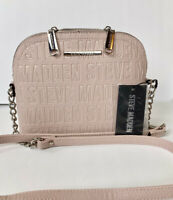 NWT STEVE MADDEN BMAGGIE LOGO CROSSBODY BAG BLUSH FAUX LEATHER PURSE