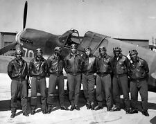 New 8x10 World War II Photo: Tuskegee Airmen of the 332nd Fighter Group - 1942