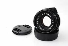 """Minolta M-Rokkor 40mm f/2 CLE For Leica M-Mount """"Very Good""""  #0913"""