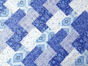 30 X 5 INCH SQUARES COTTON PATCHWORK FABRIC CHARM PACK - DELFT BLUE
