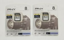 PNY Lot of 2 8GB High Speed SDHC Card PSDHC8G6-GE SD memory