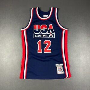 100% Authentic John Stockton Mitchell & Ness 1992 USA Jersey Size 40 M Mens