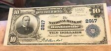 Hustonville Kentucky ,National bank , $10 1902 PB, uncirculated