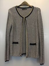 Smart Jacket Cardigan with a gold chain trim size S  Please see photos....