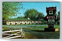 Winchester VA, El Rancho Motel, Chrome Virginia Postcard