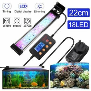 10W 22CM Super Slim RGB LED Aquarium Lighting Plant Light Fish Tank Lamp Clip on