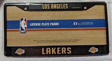 Los Angeles Lakers Metal License Plate Frame LA - Auto Tag Holder NEW NBA Black