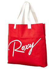 "BRAND NEW + TAGS ROXY LARGE BEACH BAG HANDBAG TOTE ""CLASSICO"" RED RRP $30 BNWT"